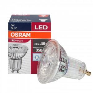 LED GU10 3.6W Par16 6500K 36